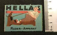Cinderella Reklamemarke Hella's Ruder Apparat Rowing Row Dog fitness