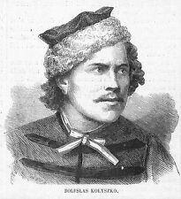 POLOGNE POLAND KOWNO BOLESLAS KOLYSZKO GRAVURE ILLUSTRATION 1863