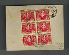 1923 Poland  Cover to Warsaw