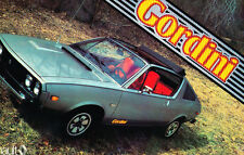 1979 Renault 17 Gordini Coupe Convertible Original Car Sales Brochure Catalog
