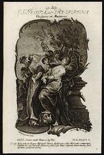 santino incisione 1700 SS.GIUSTA E RUFINA MM. A SIVIGLIA  ebersbach