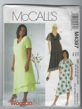 NEW MCCALLS 4397 WOMENS DRESSES PATTERN SZ 18W - 24W DRESSES IN 2 LENGTHS UNCUT