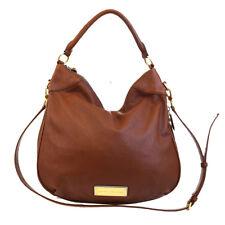Auth MARC JACOBS Logos Zipper Design 2Way Shoulder Bag Leather Brown 01BC624