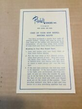 Vintage Riedell Roller Skate Use And Care Manual
