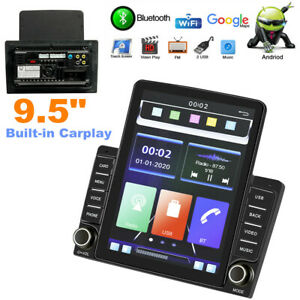 "9.5"" Vertical Screen Car Stereo Radio Built-in Carplay GPS Navi Wifi Mirror Link"