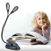 Portable LED Reading Book Light With Detachable Flexible Clip USB Rechargeable
