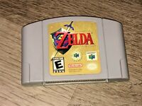 The Legend of Zelda Ocarina of Time Nintendo 64 N64 Cleaned & Tested Authentic