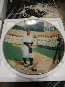 """1993 Delphi Limited Edition """"Lou Gehrig: The Luckiest Man"""" 8 1/4"""" Plate w/COA!"""