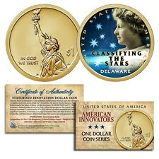 American Innovation DELAWARE 2019 Statehood $1 Dollar COLORIZED UNC Coin w/ COA