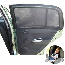 Universal Black Car Sun Shades for Rear Side Window UV Protection for Baby-1 SET