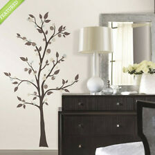 "MODERN DOTTED TREE wall stickers MURAL 47 decals branch 68"" tall mod dots leaves"