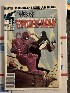 MARVEL DOUBLE-SIZED ANNUAL WEB OF SPIDER-MAN #1 - 1985 Newsstand Edition