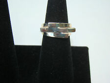 Sterling Silver FAS Gold Tone Puzzle Ring - 5.48 Grams - Size 6 3/4- Item# I535