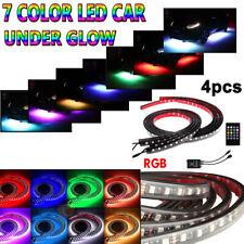 4pcs 8 Colors LED Strip Under Car Tube Underglow Underbody System Neon Light Kit