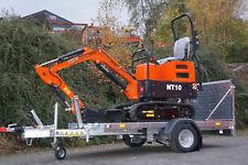 ⭐️🔥 Microbagger Minibagger Nante NT10 910 kg Bagger inkl. Anhänger 🔥⭐️