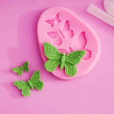 3 Hole 3D Butterfly Silicone Fondant Mold Sugar craft Cake Decors Baking Tool A
