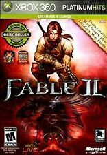 Fable II -- Platinum Hits (Microsoft Xbox 360, 2009)VG