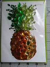 Papyrus Jeweled Pineapple Thank You Card