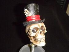 CUSTOM LUCKY 13 TOP HAT skull beer Tap handle KEGERATOR COLLECTIBLE