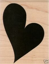 LG. HEART SHADOW Rubber Stamp By Paper Inspirations!