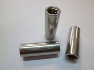 Verbindungsmuffe Gewindehülse  M 6 - M16  Edelstahl  A2 V2A  rostfrei