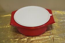 New UNIQUE Tupperware Large Tortilla Keeper Server Red Color