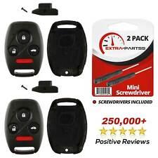 2 For 03 2004 2005 2006 2007 2008 Honda Accord - Remote Key Fob Uncut Shell Case