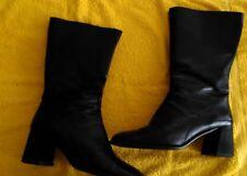 Stiefel More & More Gr. 39  Echtleder in schwarz mit RV gebraucht Absatz 6,4 cm