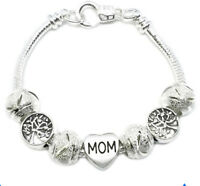 Valentines 925 Sterling Silver Tree Of Life Mom Elegant Chain Link Bracelet