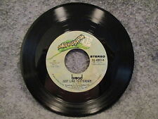 "45 RPM 7"" Record Bread The Guitar Man Just Like Yesterday 1972 Elektra EK-45803"