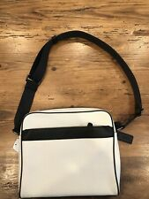 Men's Coach Leather Charles Camera Bag - Black And White F26077