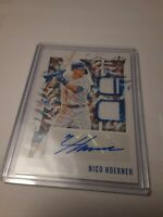 2020 Diamond Kings Nico Hoerner Cubs Rookie Card Autographed Dual Relic DKMS-NH