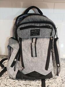 Eddie Bauer First Adventure Backpack Baby Diaper Bag Gray Black