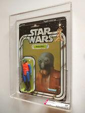 Vintage Star Wars AFA 70+ (75/70/85) Kenner 1979 Walrus Man 21 BACK-A MOC RARE!