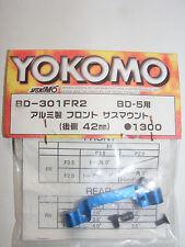 Yokomo BD-301FR2 Aluminium Suspension Arm Mount, 42mm Blue, for BD5