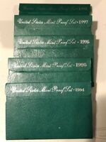 1994-1998 Green Box United States Mint Proof Sets w / COA