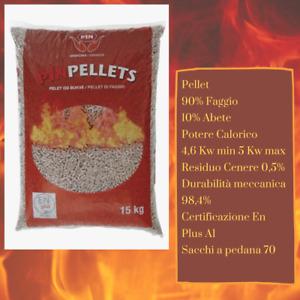 🔥 OFFERTA 🔥 PELLET PURO FAGGIO E ABETE 100% CERTIFICATO EN PLUS A1 SACCO 15KG