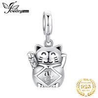 JewelryPalace 925 Sterling Silber Glück Liebe Glückskatze Charm Perlen