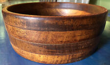 VINTAGE Large HAND CRAFTED DEEP WOOD SALAD BOWL 9-1/2 Inches