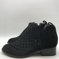 Jeffrey Campbell Black Velvet Ankle Boot 7