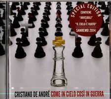 De Andre Cristiano-Cosi In Cielo Cosi In Guerra-Sanremo 2014 CD Nuovo