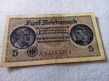 Germany 5 reichsmark banknote
