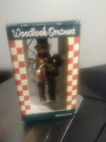 Country Christmas Drummer Woodlook Ornament Resin. Brand New