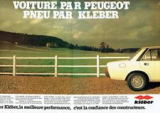 Publicité Advertising 107 1980  pneus Kléber  (2)  pour Peugeot