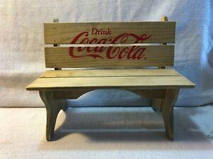 Wooden Coca Cola Bench Display Coke CBW3 Brand New Original Box