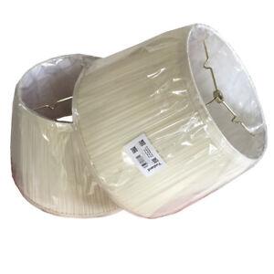 Bell Lamp Shade Cream Linen Mushroom Finish Standard Top Ring Spider Fitter