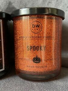 DW Home Small Scented Glitter Halloween Candle - Spooky - 3.8oz 108g - Brand New