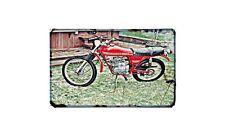 Gilera Trail 50 Motorbike Sign Metal Retro Aged Aluminium Bike