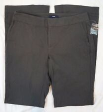 Gap Womens Aubrey Flare Leg Size 2R Stretch Bistro Charcoal Gray Chino Pants New
