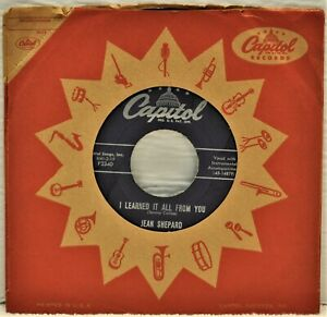 """JEAN SHEPARD """"This Has Been Your Life / I Learned It From You"""" 45 RPM"""